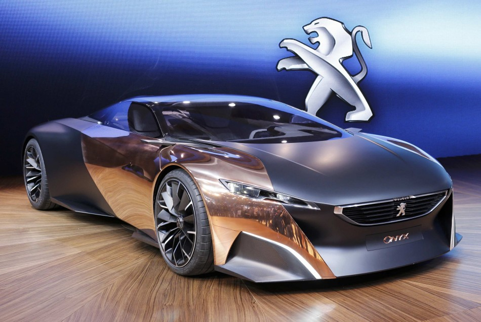 A Peugeot Onyx concept car at the Paris Mondial de l'Automobile