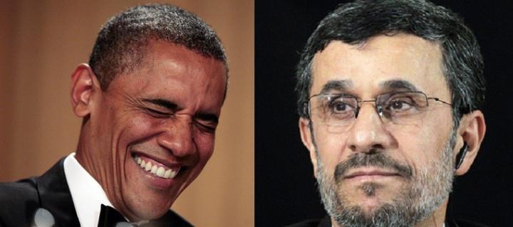 Barack Obama and Mahmoud Ahmadinejad
