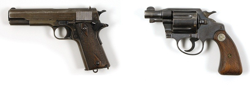 The two guns recovered from Bonnie and Clyde after they were shot looks set to be the highlight of the auction.