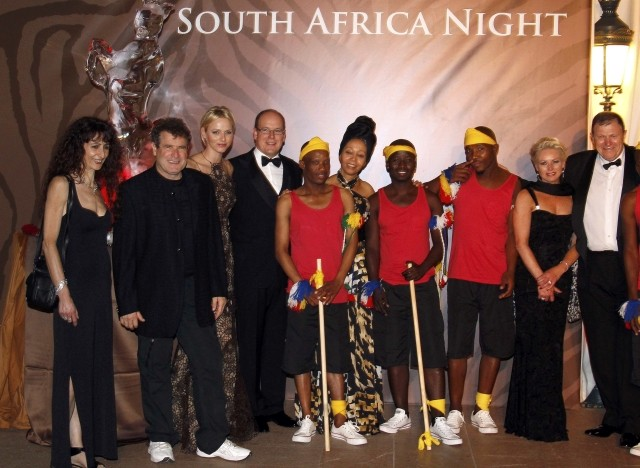 Albert and Charlene at South Africa Gala Night in Monaco