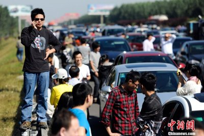 Traffic jams in China