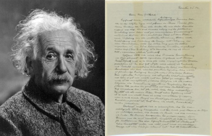 A letter handwritten by physicist Albert Einstein a year before his death, expressing his views on religion, will be auctioned. (Photo: Wikimedia Commons/Reuters)