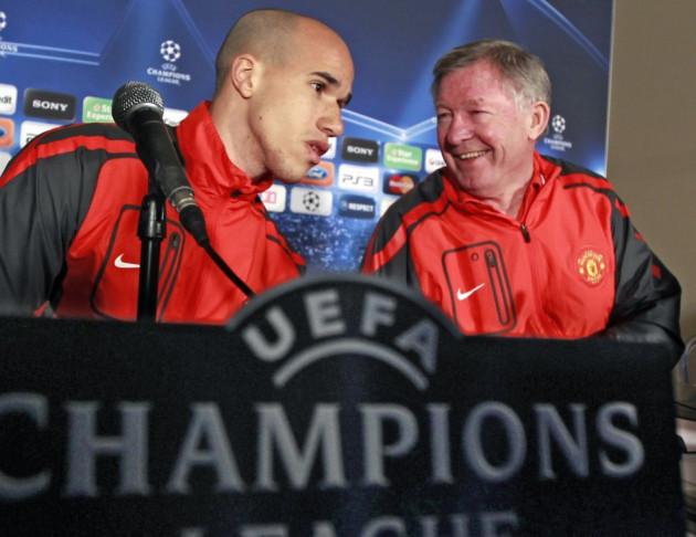 Gabriel Obertan and Alex Ferguson