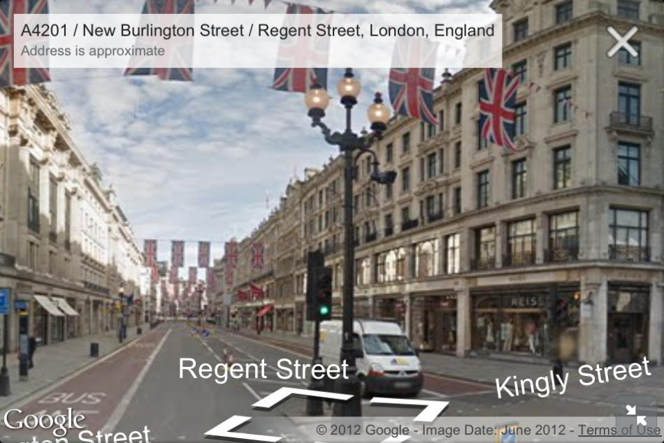 street view added to google maps ios web app. Black Bedroom Furniture Sets. Home Design Ideas
