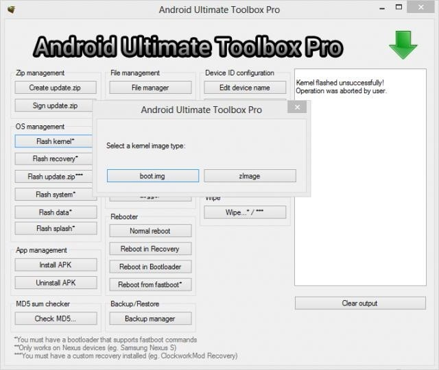 Quick Customise Your ROM with Android Ultimate Toolbox Pro