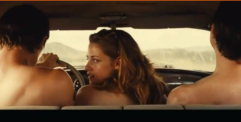 Kristen Stewart Nude on Bed for 'On the Road' Movie