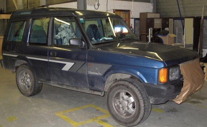 Mark Bridger's Land Rover Discovery was recovered from a repair garage.