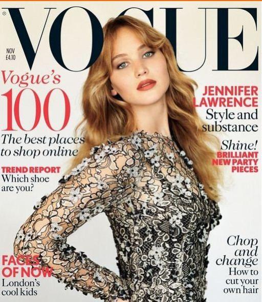 Jennifer Lawrence Makes Vogue Cover Debut