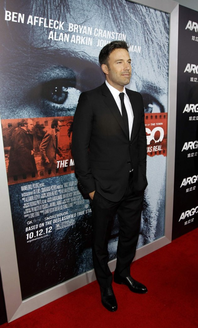Affleck poses at the premiere of