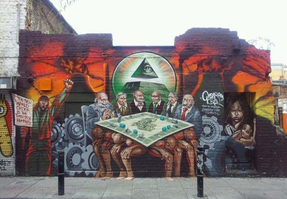 Mear One's mural on Hanbury Street has been slammed for its anti-Semitism (Photo: Reuters)
