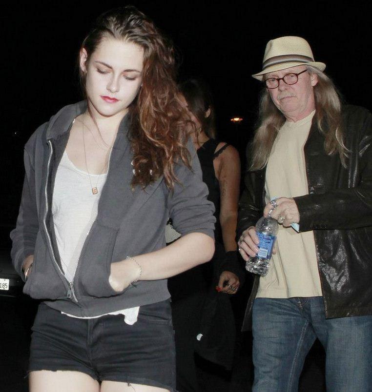 Kristen Stewart with Father John Stewart