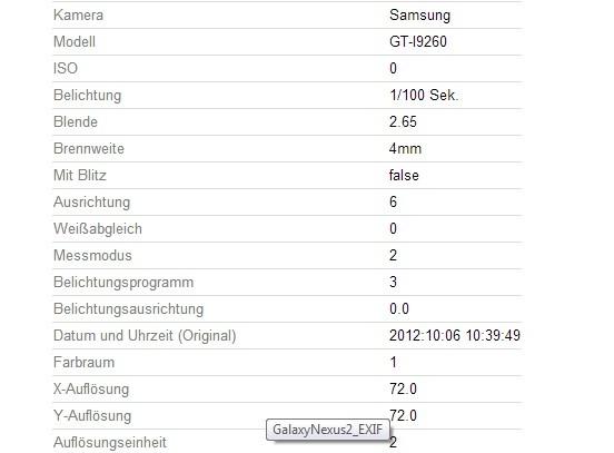 Samsung Galaxy Nexus 2 I9260