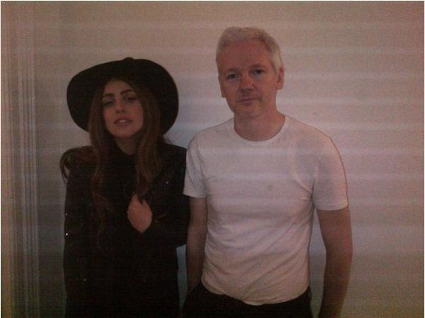 Gaga together with Assange