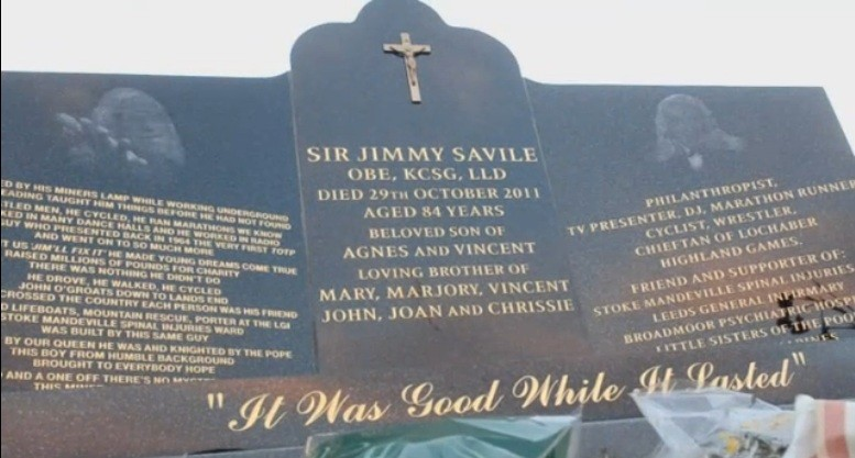 Jimmy Savile headstone