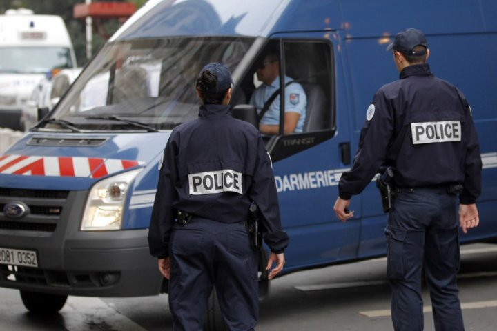The explosive materials were found by French police in Paris (Reuters)