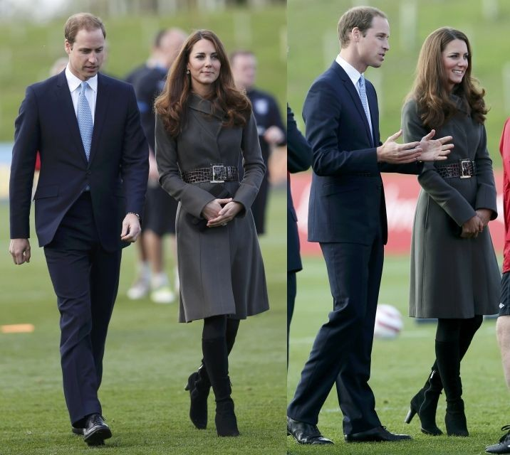 Kate Middleton Meets Football Players
