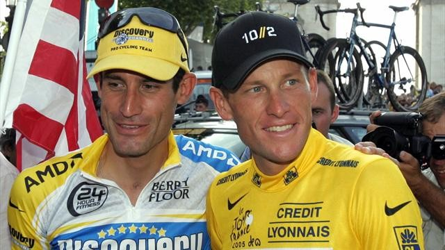 Lance Armstrong and George Hincapie