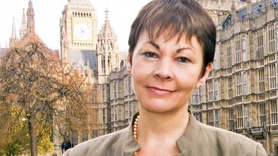 Caroline Lucas MP standing outside Westminster (Photo: CarolineLucas.com)