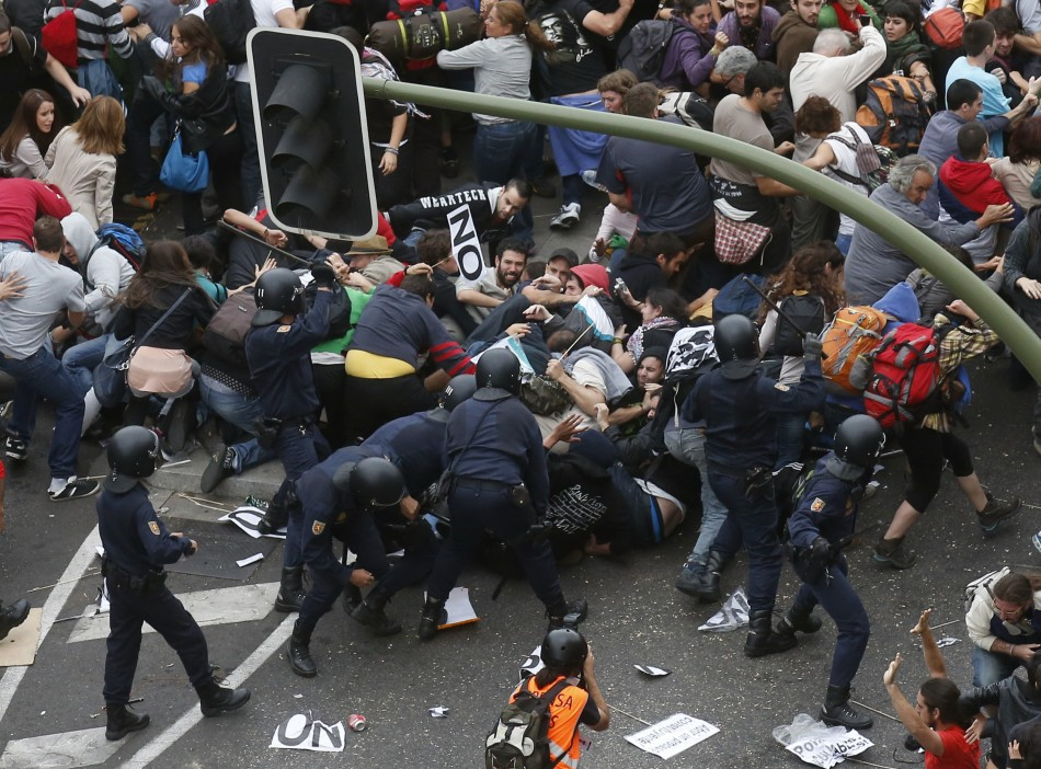 Madrid riots