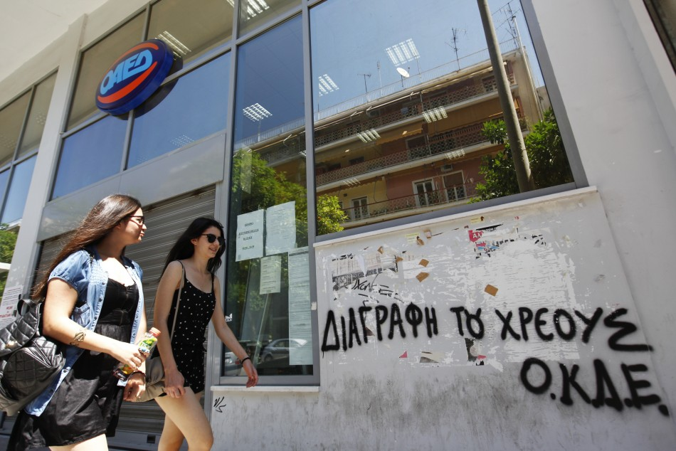 Greek Unemployment Hits New Record