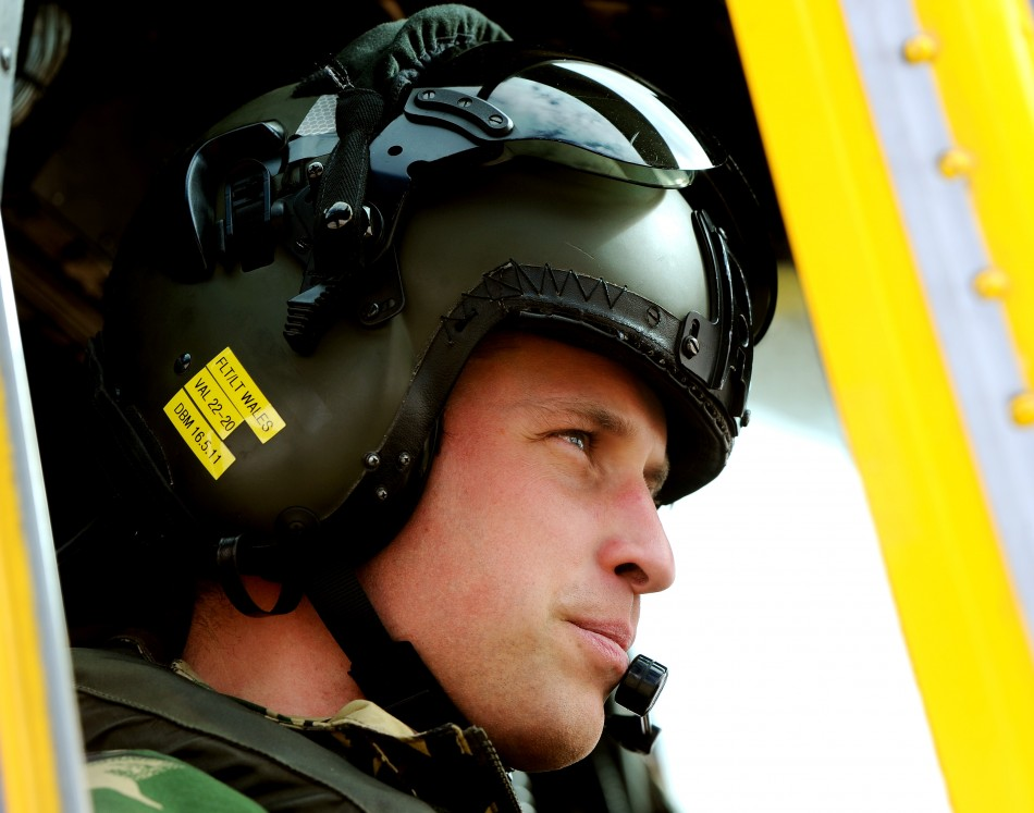 Prince William is serving as a search and rescue helicopter pilot, based at RAF Valley on Anglesey (Reuters)