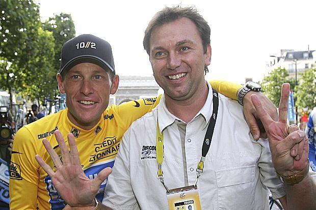 Lance Armstrong and Johan Bruyneel