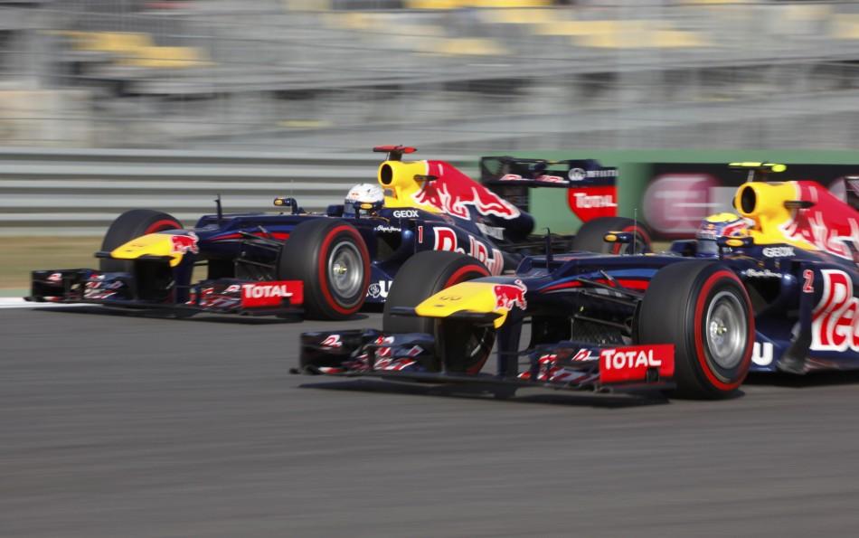 Mark Webber and Sebastian Vettel