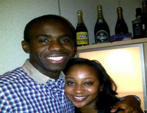 Fabrice Muamba with fiancé Shauna