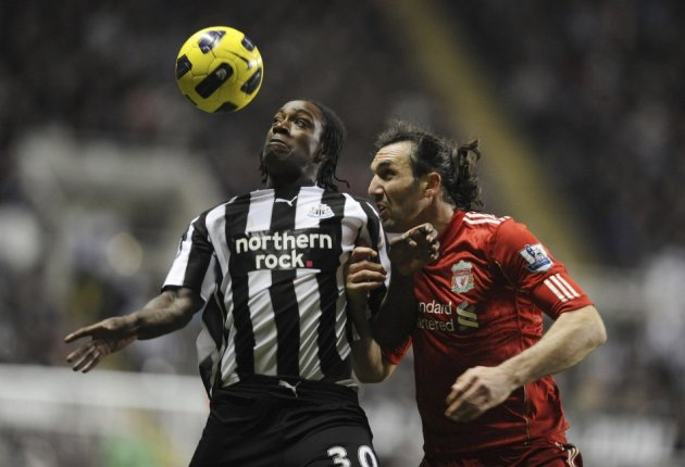 Newcastle United's Nile Rangers (L) has been convicted of two counts of assault.