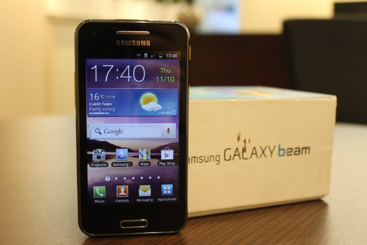 Samsung galaxy beam review for Samsung beam smartphone