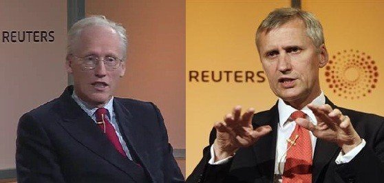 Future leaders of the FCA: John Griffith-Jones and Martin Wheatley (Photo: Reuters)