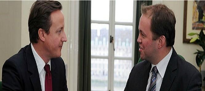 David Burrowes (l) with PM David Cameron