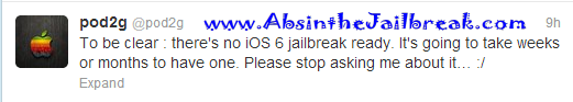 iOS 6 Untethered Jailbreak On the Cards, Pod2g Sounds Confident