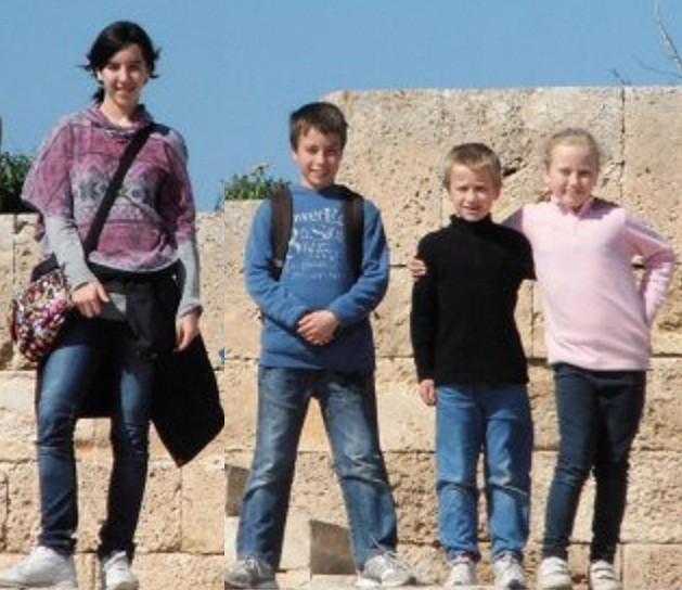 (From left) Jessica, Tomas, David and Eva Palacin Jones have been found safe and well.