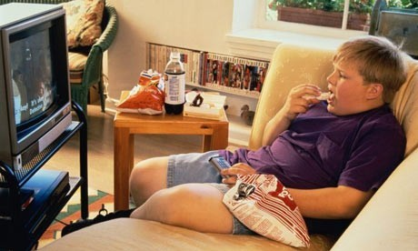 obese teenage boy