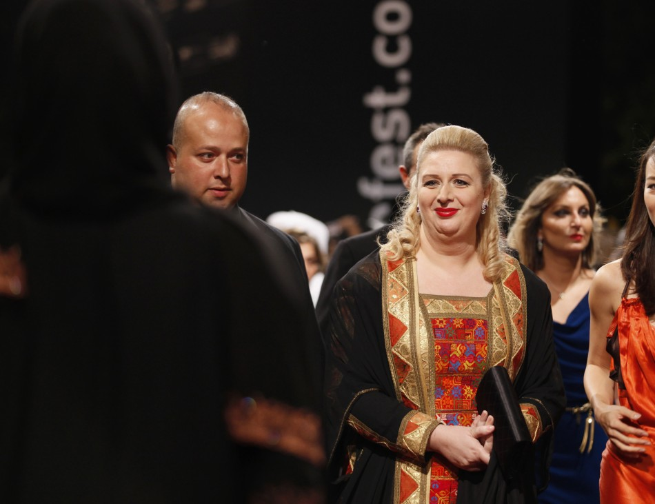 Suha Arafat arrives for the 8th Dubai International Film Festival