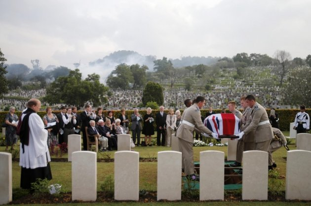 Burial for RAF Crew