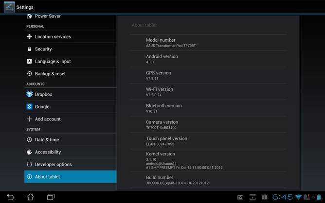 Asus Transformer Pad Infinity TF700T Gets New Update, Brings Bug Fixes