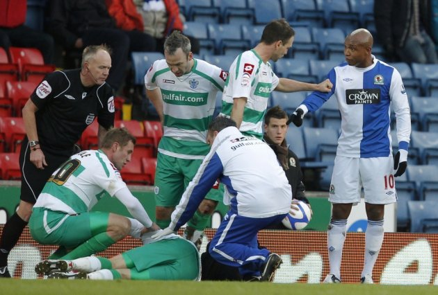 Diouf gestures towards Mackie