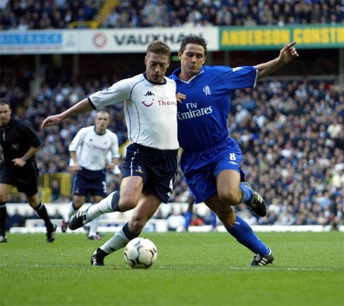 Steffen Freund (L) and Frank Lampard