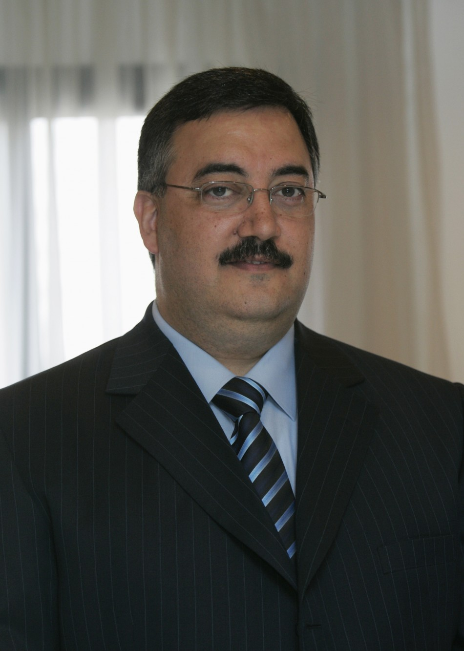 Senior Lebanese intelligence official al-Hassan poses in this photo taken in Beirut