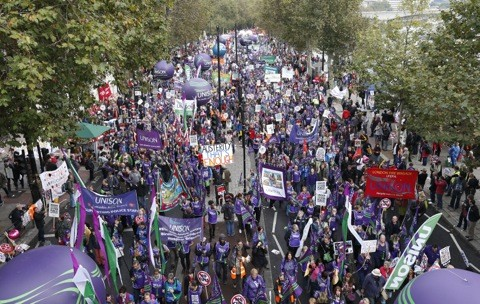 Anti-Austerity March, London 2012
