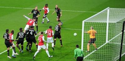 Laurent Koscielny scores first goal,March 6, 2012