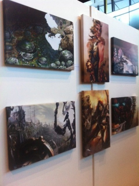 One of the exhibits from the London Games Art Exhibition in City Hall, London (Photo: Lianna Brinded)
