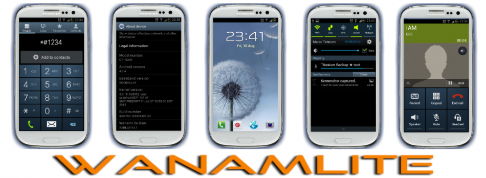 Flash WanamLite Android 4.1.2 Jelly Bean ROM for Galaxy Note 2 N7100 [How to Install]