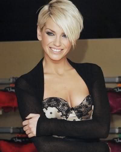 long pixie haircut with bangs coronation harding revealed as summer guest 5812 | sarah harding