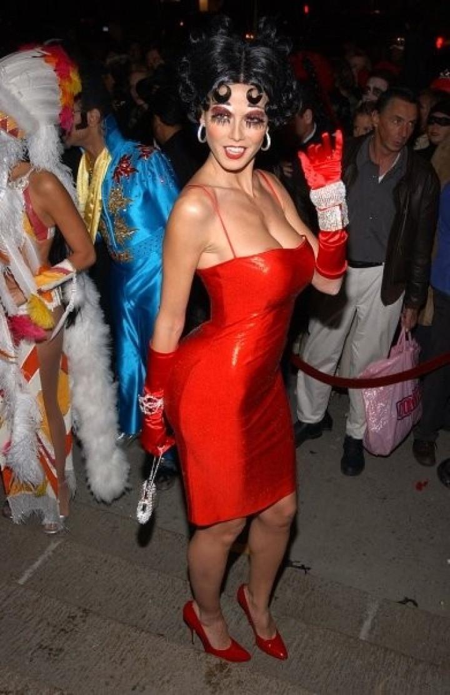 Heidi Klum as Betty Boop in 2002. NYC.