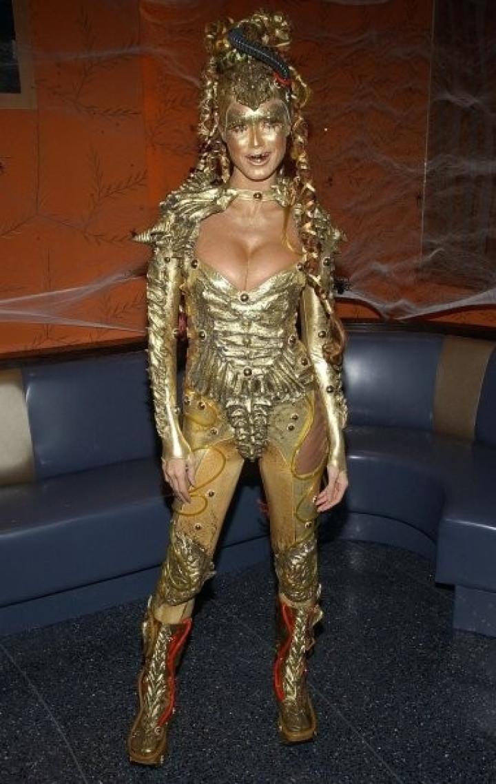 Heidi Klum as Alien in 2003. NYC.