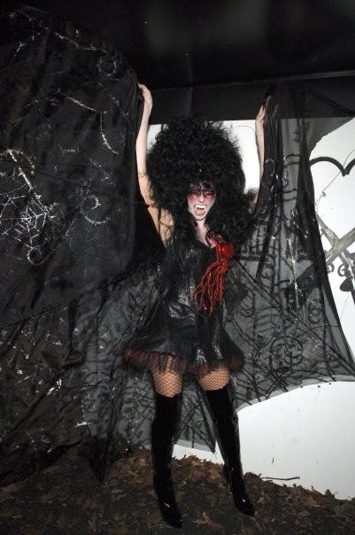 Heidi Klum as Vampire in 2005. NYC.