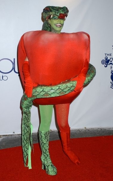 Heidi Klum as Eve's Apple from the Garden of Eden in 2006. Los Angeles.